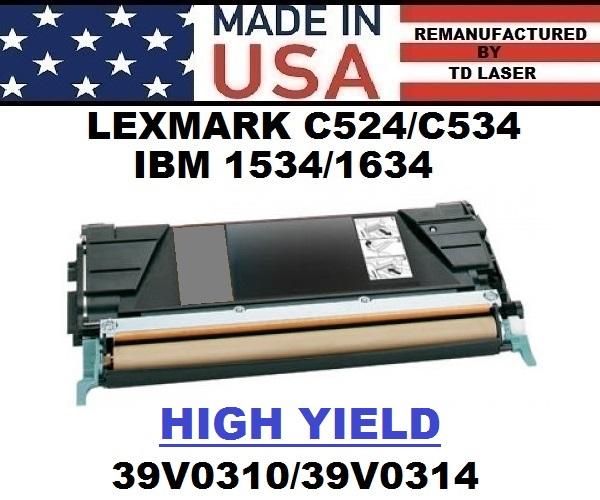 RICOH – IBM 1534/1634 TONER – BLACK HY – USA Made